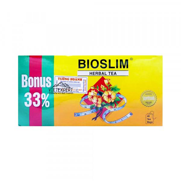 Bioslim Tra Bao Tu Le для похудения и детокситации организма (40 пакетиков)