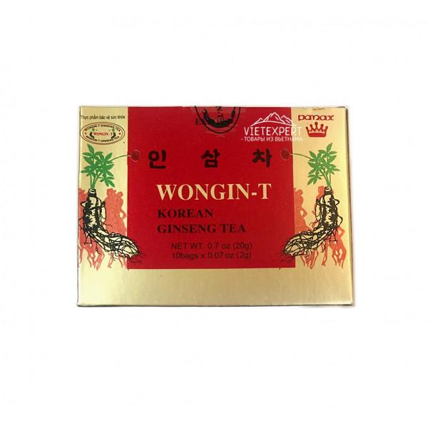 Wongin T Ginseng Tea чай на основе женьшеня (10 пак. x 2 гр.)