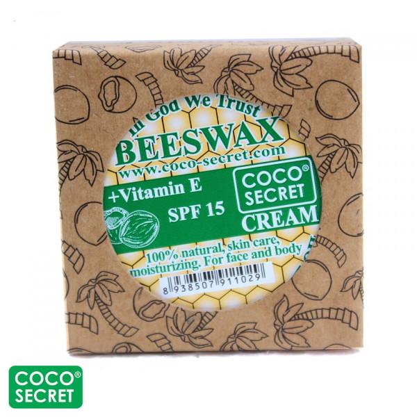 Крем для лица с кокосовым маслом и пчелиным воском (30 гр.)