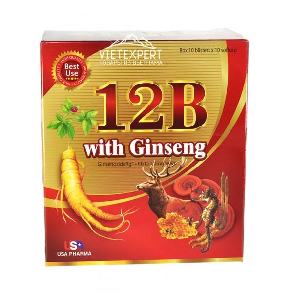 Витаминный комплекс с женьшенем 12B with Ginseng