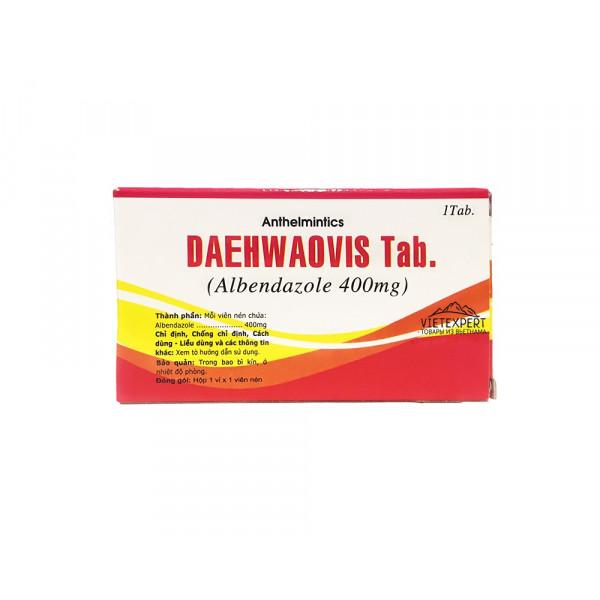 Daehwaovis альбендазол 400 мг (1 таб.)
