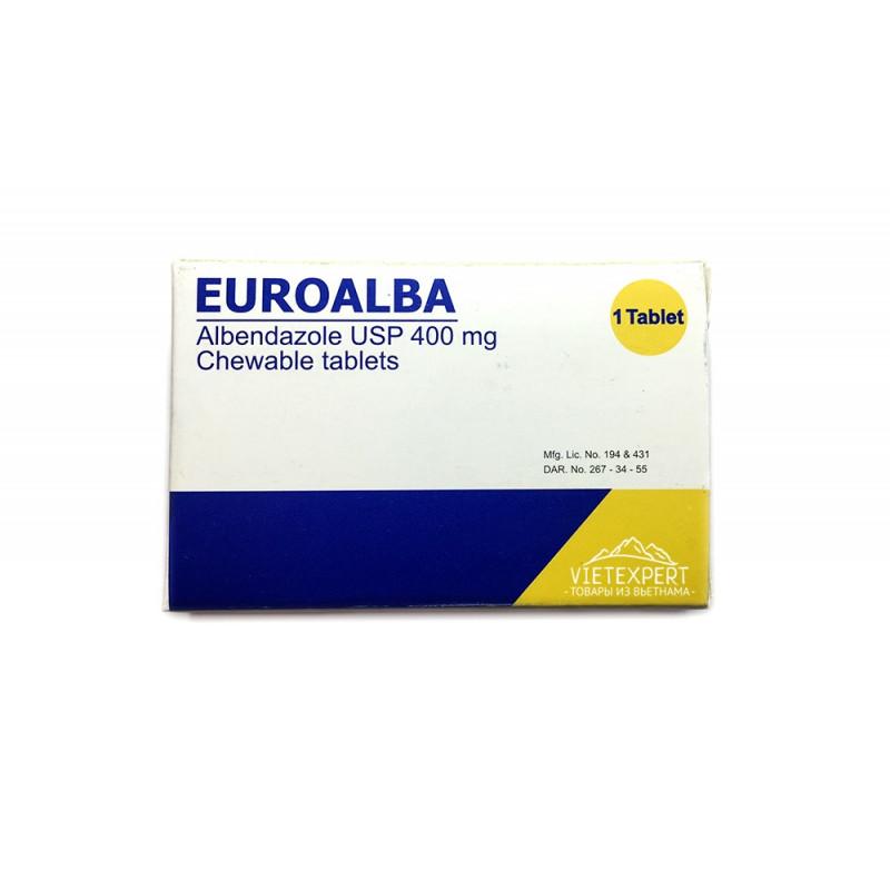 Euroalba таблетки с альбендазолом