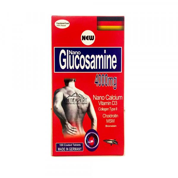 Глюкозамин 4000 мг (100 капсул, Германия)