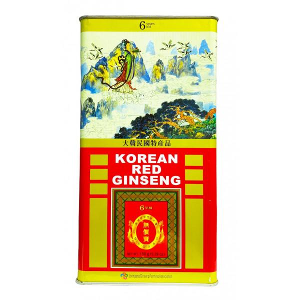 Корень красного корейского 6 летнего женьшеня (БОЛЬШАЯ упаковка 150 грамм)