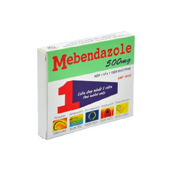 Средство против паразитов Mebendazole 500 mg