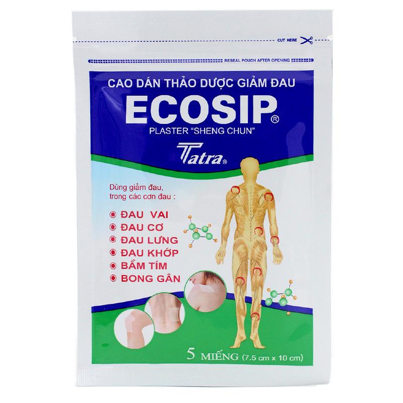 Ecosip пластырь обезболивающий