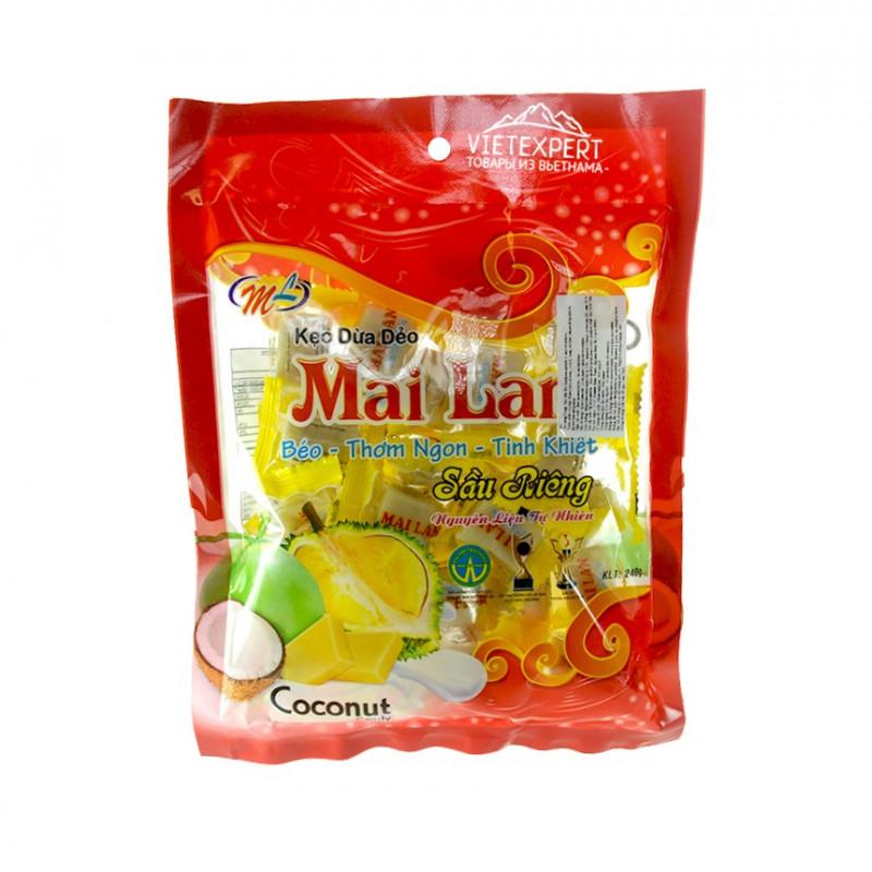 Кокосовые конфеты с дурианом